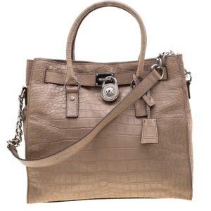 Michael Kors Hamilton Crocodile Leather Bag